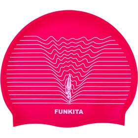 Funkita Silicone Swimming Cap - Gorros de natación Mujer - rosa